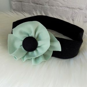 Reckless Resale Accessories - Fern Green Cotton Jersey Flower Headband